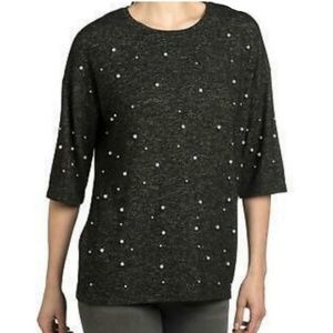 ■ Chelsea & Theodore■(M) Pearl Embellished Sweater